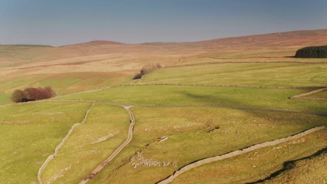 Yorkshire Dales bij zonsondergang - Drone Shot