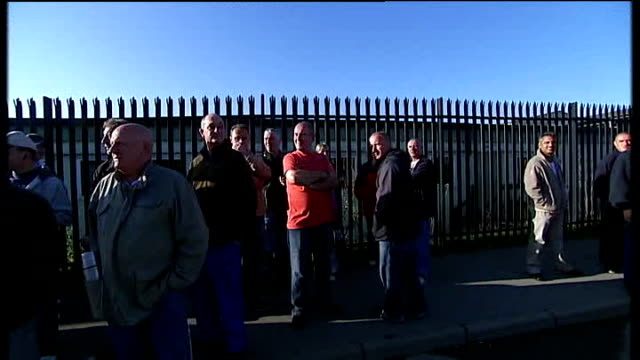 leeds: ext wheelie bins overflowing with uncollected rubbish plastic sacks of rubbish piled up against wall various of binmen picket line outside... - overflowing stock videos & royalty-free footage