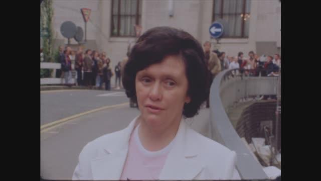 """vídeos y material grabado en eventos de stock de peter sutcliffe trial continues:; mrs oliver smelt: sof: """"i just -- yorkshire man."""" - yorkshire"""