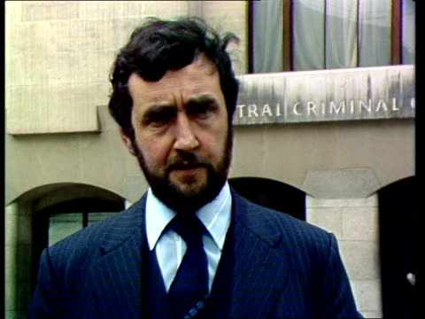 """yorkshire ripper trial; cms ken rees:sof:""""the problem is -- loony bin."""" video ob: see 'a' tx'd:5.5.81/nat: - yorkshire stock videos & royalty-free footage"""