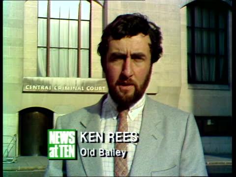 "vídeos y material grabado en eventos de stock de yorkshire ripper trial; ken rees:sof:""after that stern warning---- dr milne out of court l-r - yorkshire"