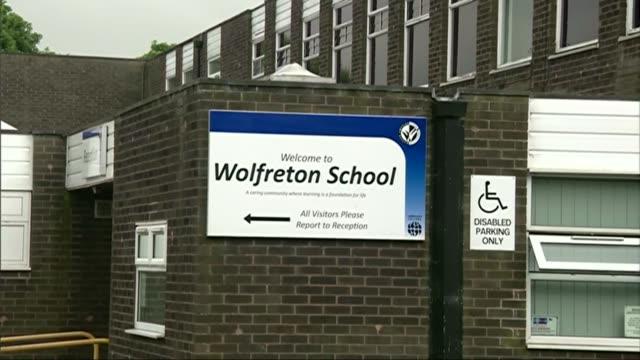yorkshire school girl dies while swimming in france england yorkshire hull ext various shots wolfreton school - キングストンアポンハル点の映像素材/bロール