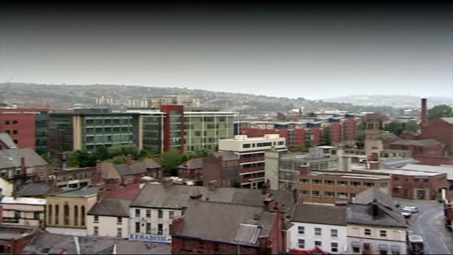 yorkshire sheffield general views sheffield / b/w housing estates - sheffield stock videos and b-roll footage
