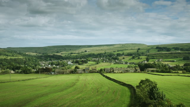 yorkshire village - yorkshire england stock videos & royalty-free footage