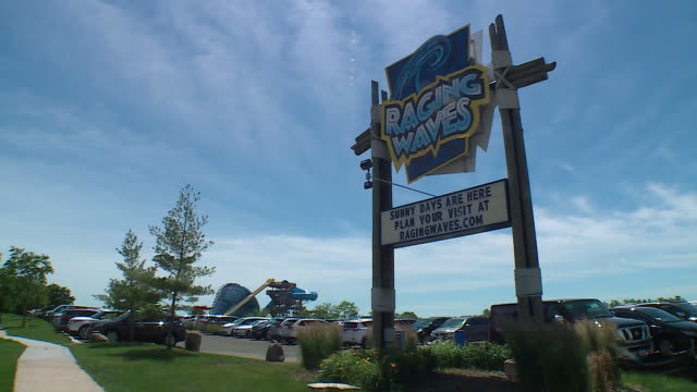 wgn yorkville il us people and attractions at raging waves waterpark in yorkville illinois on wednesday june 26 2019 - yorkville illinois stock videos & royalty-free footage