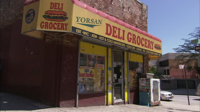 yorsan deli grocery - bronx new york stock videos and b-roll footage