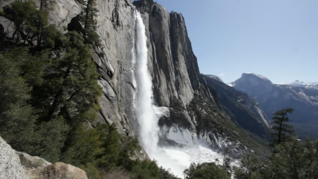 yosemite falls - upper yosemite falls stock videos & royalty-free footage
