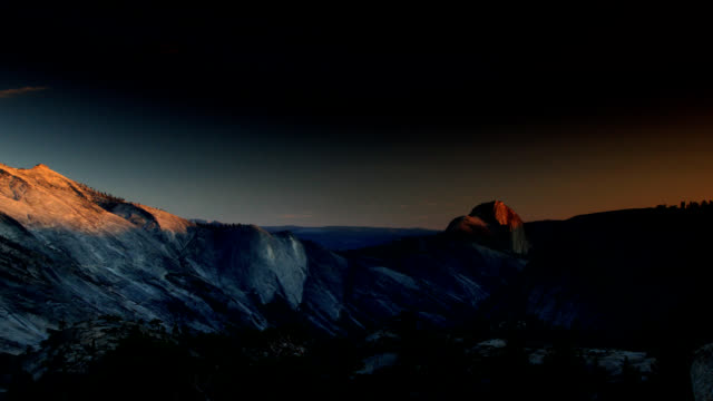 yosemite from dusk to dawn - yosemite national park stock videos & royalty-free footage