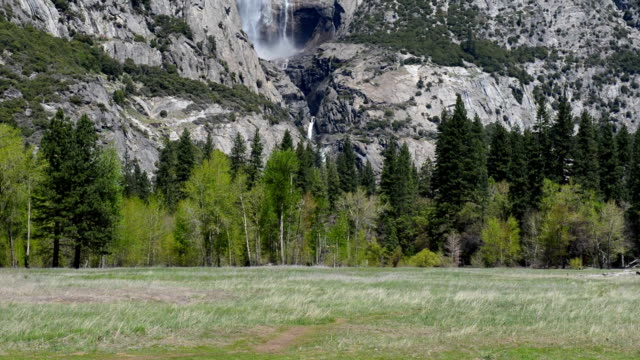 yosemite national park, california, usa - upper yosemite falls stock videos & royalty-free footage