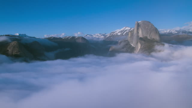 yosemite national park cloudscape - yosemite national park stock videos & royalty-free footage
