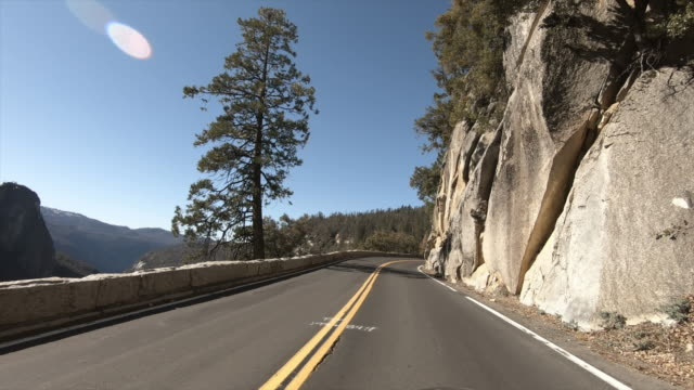 yosemite national park: driving - river merced stock videos & royalty-free footage