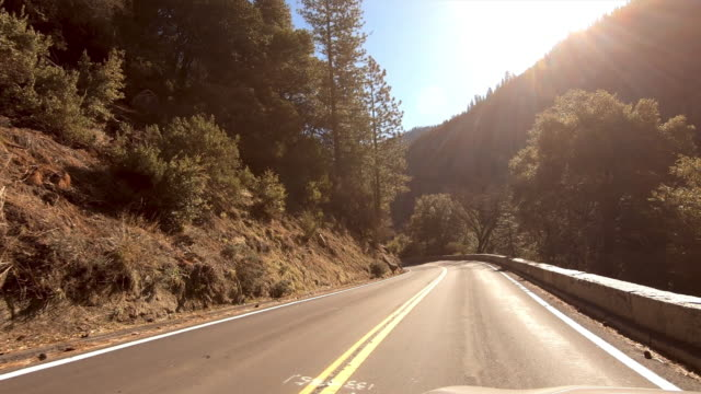yosemite national park: driving - californian sierra nevada stock videos & royalty-free footage