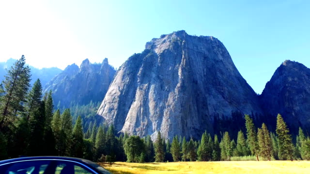 yosemite national park: driving - national landmark stock videos & royalty-free footage