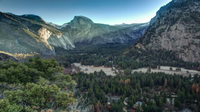 Yosemite National Park. Sunrise at Yosemite Valley.