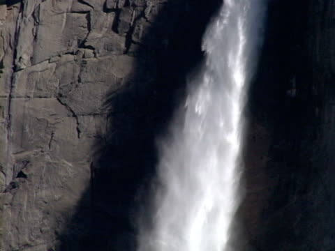 yosemite national park waterfall - upper yosemite falls stock videos & royalty-free footage