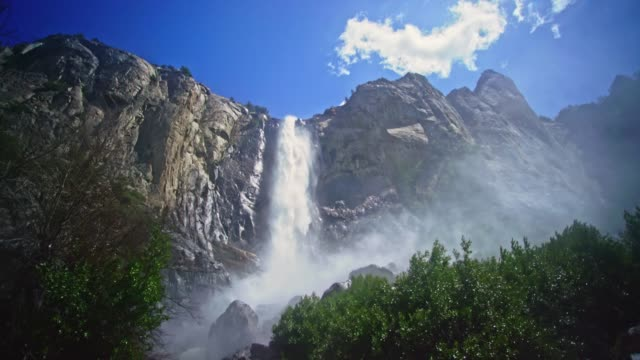 yosemite national valley bridal veil falls yosemite cinemagraph - yosemite national park stock videos & royalty-free footage