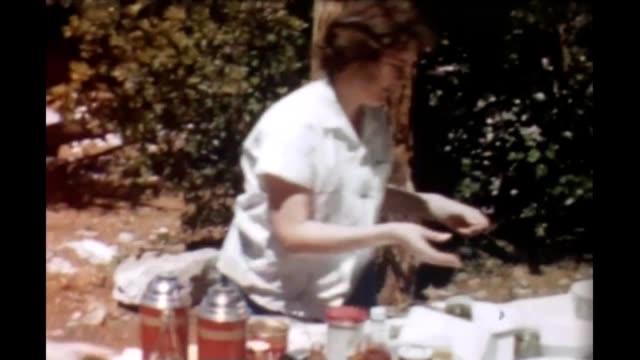 1965 yosemite picnic - ground culinary stock videos & royalty-free footage
