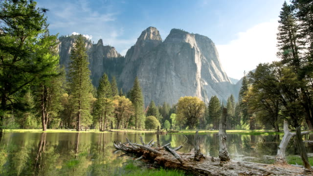 stockvideo's en b-roll-footage met yosemite valley landschap - nationaal monument beroemde plaats