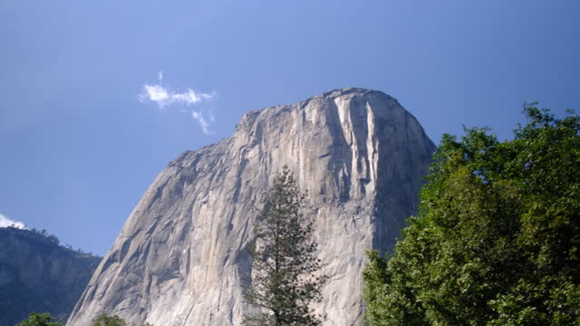 yosemite valley with el capitan, bridalveil fall and half dome from tunnel view, yosemite, california, usa. - granite rock stock videos & royalty-free footage