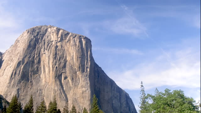 yosemite valley with el capitan, bridalveil fall and half dome from tunnel view, yosemite, california, usa. - californian sierra nevada stock videos & royalty-free footage