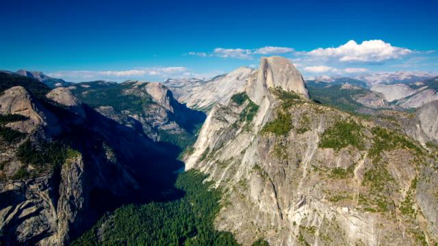 time lapse: yosemite - half dome stock videos & royalty-free footage