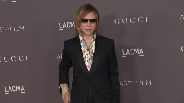 Yoshiki at the 2017 LACMA Art Film Gala Honoring Mark Bradford And George Lucas And Presented By Gucci at LACMA on November 4 2017 in Los Angeles...