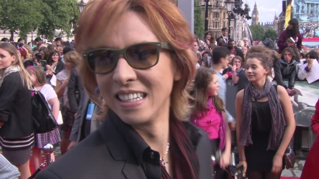 Yoshiki on being at the premiere being a fan of the film's at the Harry Potter and the Deathly Hallows Part Two World Premiere at London England
