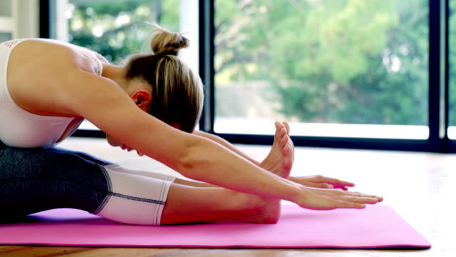 you can rest assured that yoga is good for you - self discipline stock videos & royalty-free footage