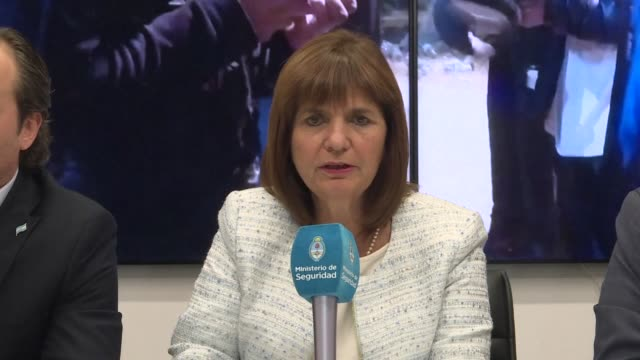 you can't mix a sports game with a conflict says security minister patricia bullrich as argentina is about to face israel in a sold out friendly in... - sold out stock videos & royalty-free footage