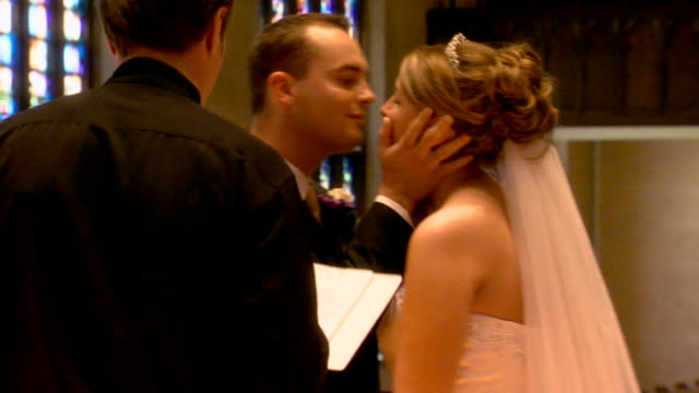 you may kiss the bride - pastor stock videos & royalty-free footage