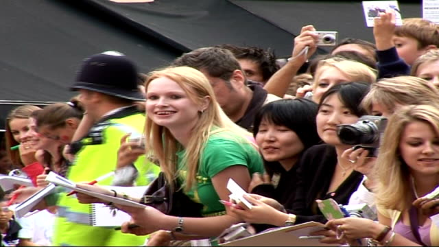 'you me and dupree' film premiere arrivals in london owen wilson speaking to press wearing brown suit and nike trainers / more of fans gathered... - nike designer label stock videos and b-roll footage