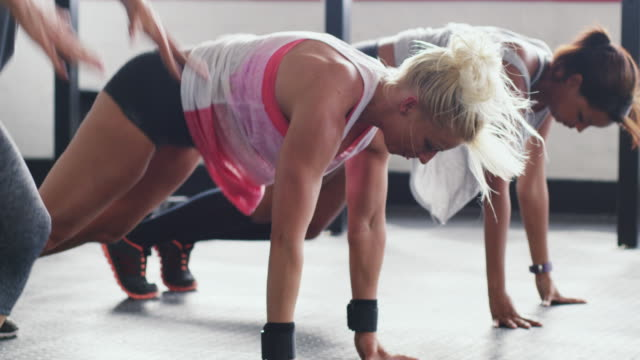 you'll get stronger with every stretch - exercise class stock videos & royalty-free footage