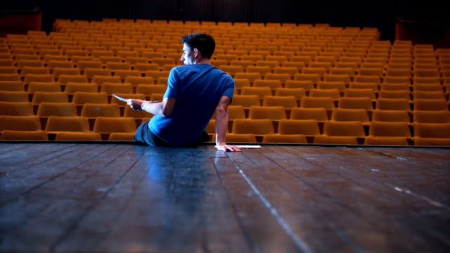 young actor have a rehearsal - stage performance space stock videos & royalty-free footage