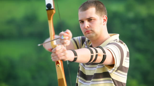 hd: young archer - longbow stock videos and b-roll footage