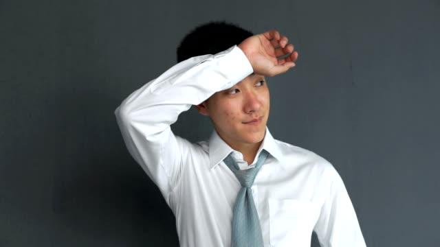 young asian business man sweating - all shirts stock videos & royalty-free footage