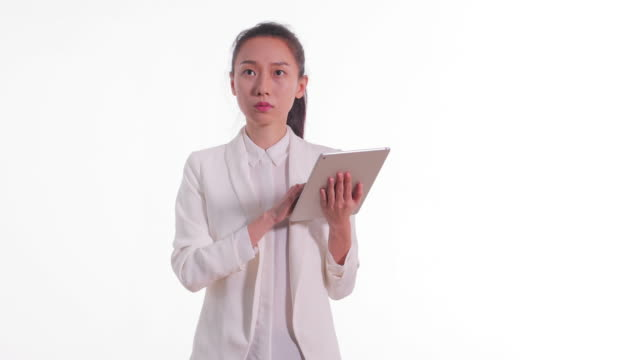 young asian business woman - touchpad stock videos & royalty-free footage