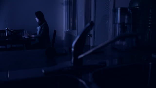 young asian woman working late at home - surfing the net stock videos & royalty-free footage