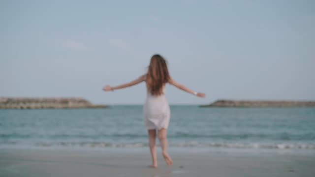 young asian women enjoying at beach stock video - fashionable stock videos & royalty-free footage