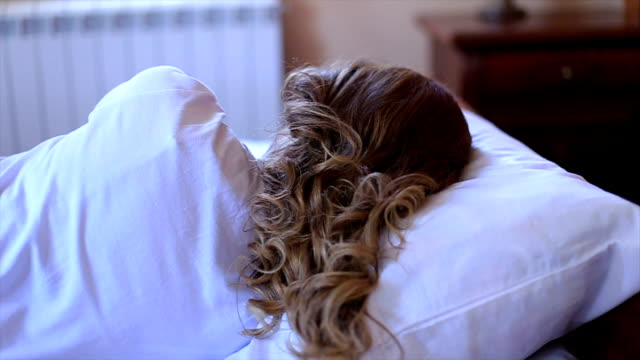 young attractive sleeping woman in bed - 2015 stock videos & royalty-free footage