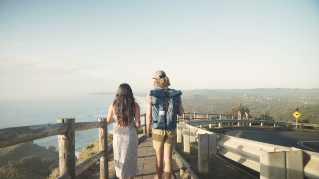 Young backpacker couple traveling Australia