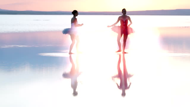 young ballerina dancing on water - ballet dancer stock videos & royalty-free footage