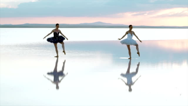 young ballerina dancing on water - performing arts event stock videos & royalty-free footage