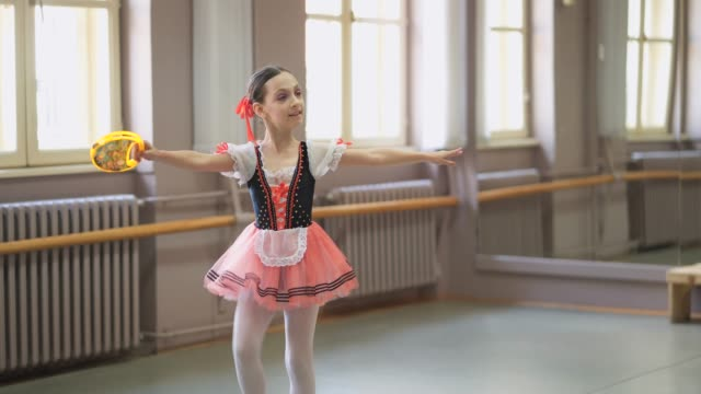 young ballerina performing her performance - ballet shoe stock videos and b-roll footage