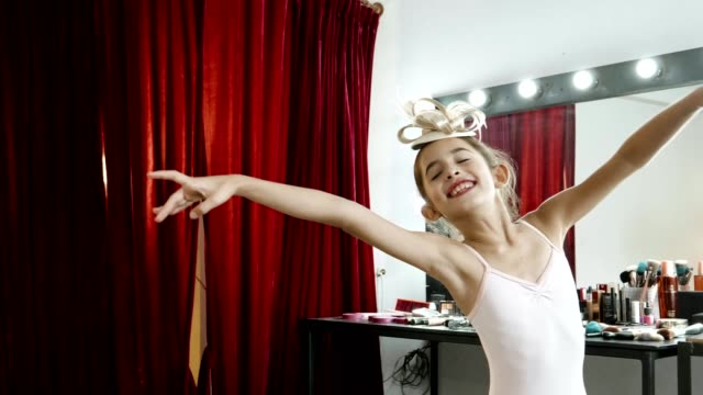 young ballerina practicing in backstage - tutu stock videos & royalty-free footage