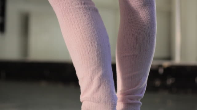 cu td young ballerina's feet / london, england - en pointe stock videos and b-roll footage