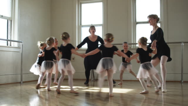 young ballerinas in a dance studio - holding stock videos & royalty-free footage
