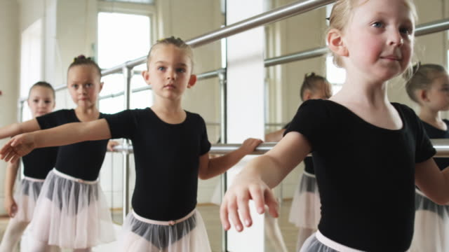 young ballerinas in a dance studio - tights stock videos and b-roll footage