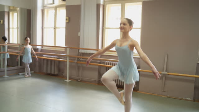 young ballerinas on ballet class - ballet performance stock videos & royalty-free footage