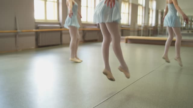 young ballerinas on ballet class - ballet shoe stock videos and b-roll footage
