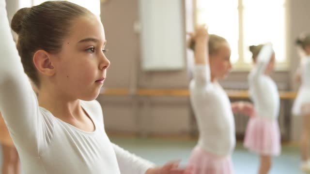 young ballerinas - primary age child stock videos & royalty-free footage